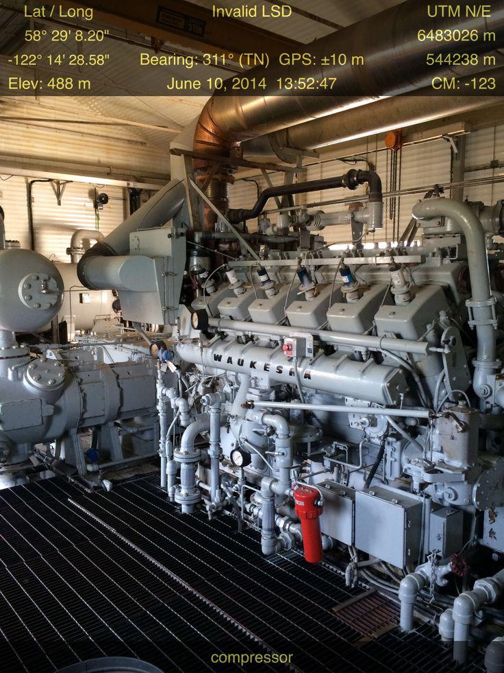 Waukesha 5794 natural gas compressor near Ft Nelson BC