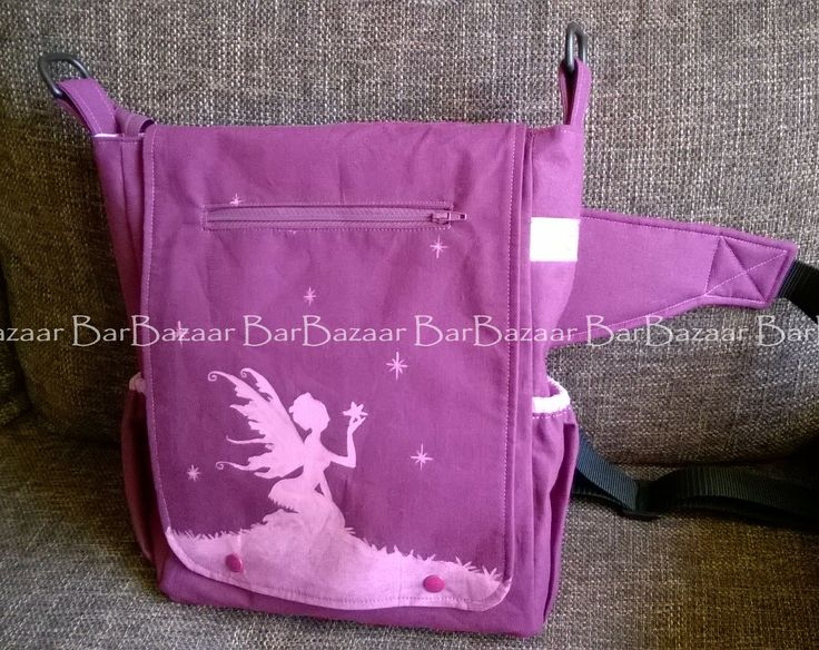 Hand painted 2in1 bag (belt bag or shoulder bag) for baby carrying