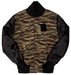 B-side Mens Custom Camo Varsity Jacket  £195.00