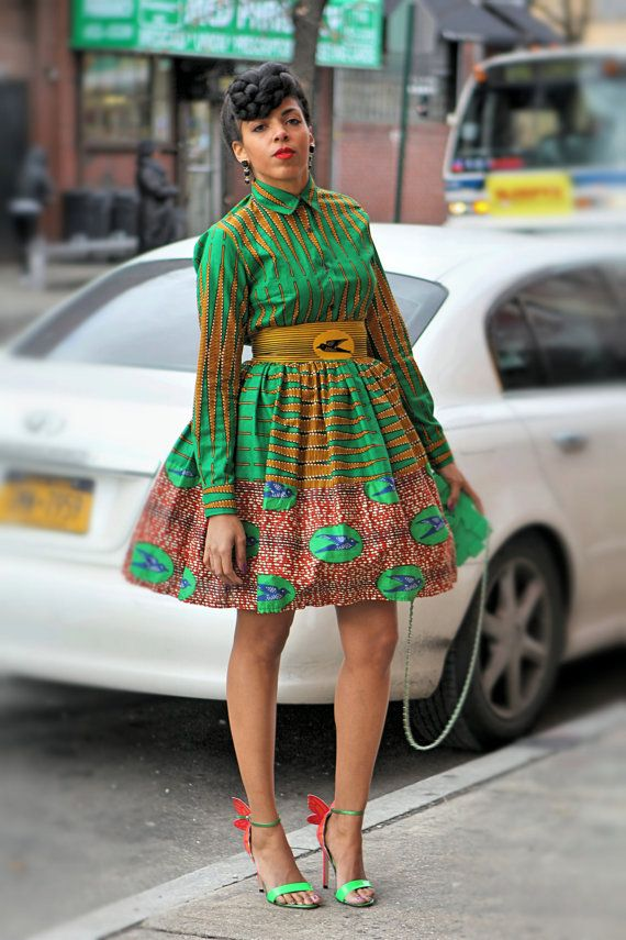 Ellie Maye Shirt Skirt or Set by tribalgroove on Etsy ~African fashion, Ankara, kitenge, African women dresses, African prints, African men's fashion, Nigerian style, Ghanaian fashion ~DKK
