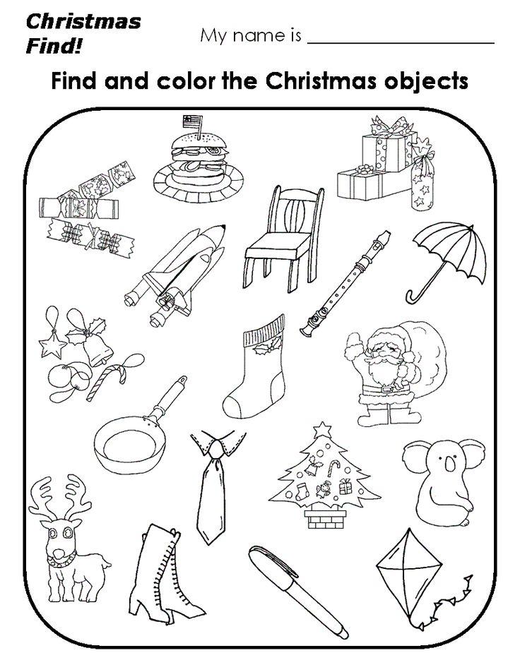 Die besten 25+ Christmas worksheets for kindergarten Ideen