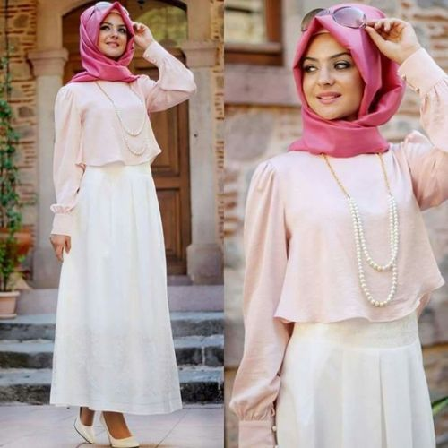 cute pastel hijab outfit- Chic hijab outfits from instagram http://www.justtrendygirls.com/chic-hijab-outfits-from-instagram/