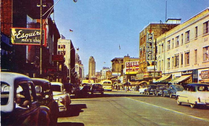 Downtown 1950s WIndsor #windsor #ontario #canada