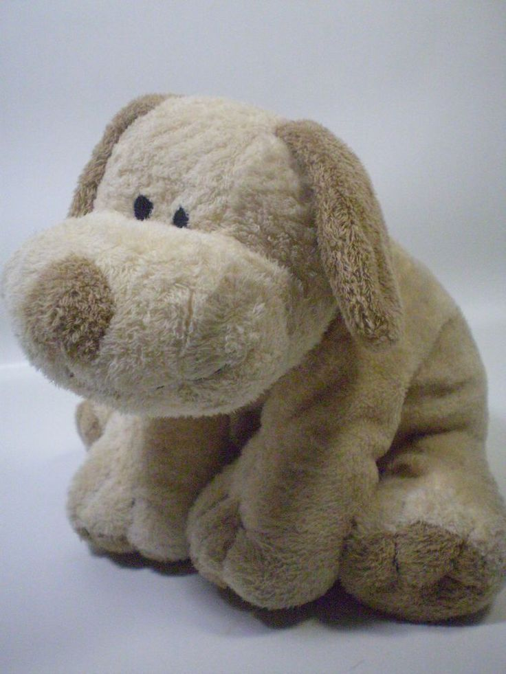 Brown Toy Dog With Sewn On Eyes