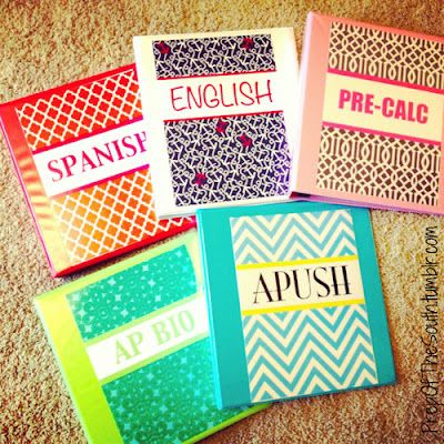 DIY cute binder covers.