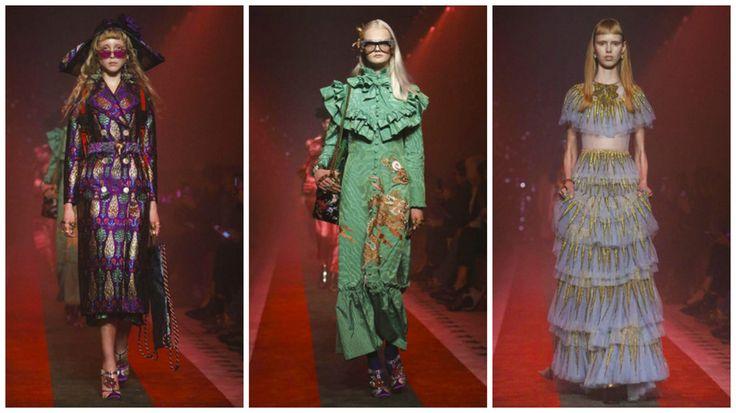 Неделя моды в Милане: Gucci весна-лето 2017🌟  Что такое показ Gucci?❤  Это 76 ярких, эпатажных моделей с акцентом на эклектике стилей. Главным гостем программы стал красный свет , туманом освещающий ковровую дорожку. Атмосфера на площадке была полна мистики, запретной сексуальности, ожидания чего-то сверхъестественного. Во всем этом остро ощущалась абсолютная аутентичность. Элементы костюмов королевской Италии, венецианский карнавал, ренессанс. Несмотря на яркие комбинации модели Gucci не…