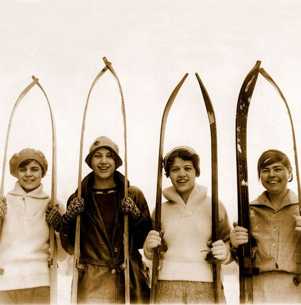Love these vintage ski shots.