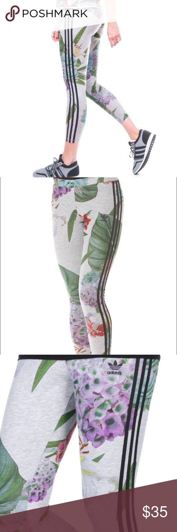 Adidas Train C Leggings Floral Multi - XS New with tag. In perfect condition. 👌🏼 The adidas women's leggings have a lush print made of oversize flowers for a fresh twist. A regular fit and 3-Stripes down the legs give them a casual, sporty look. Please ask any questions you may have before bidding. Adidas Pants Track Pants & Joggers