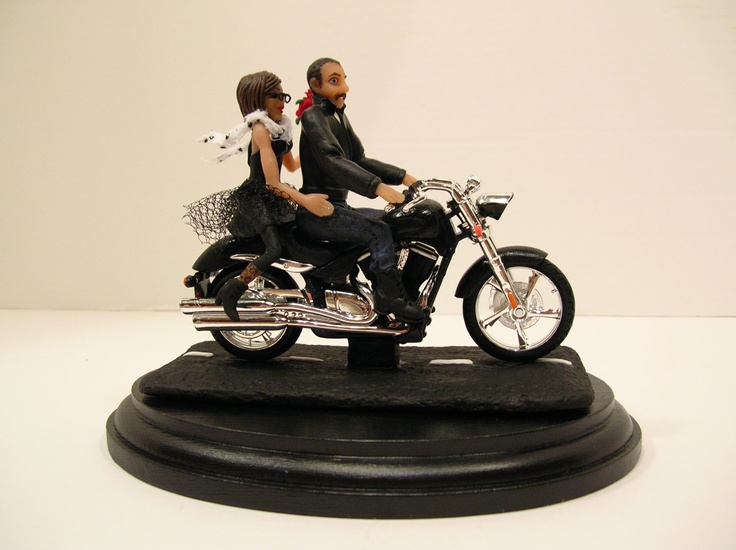 motorcycle couple wedding cake topper 17 best images about wedding cake toppers on 17606