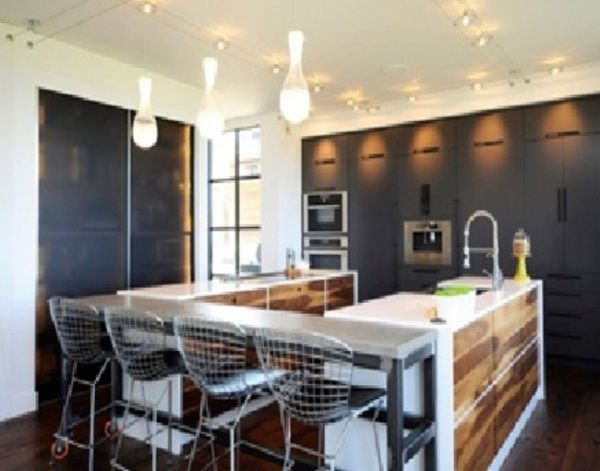 islands with stools near the melamine and stainless steel kitchen island use wooden motif u2013 nice elongated stai