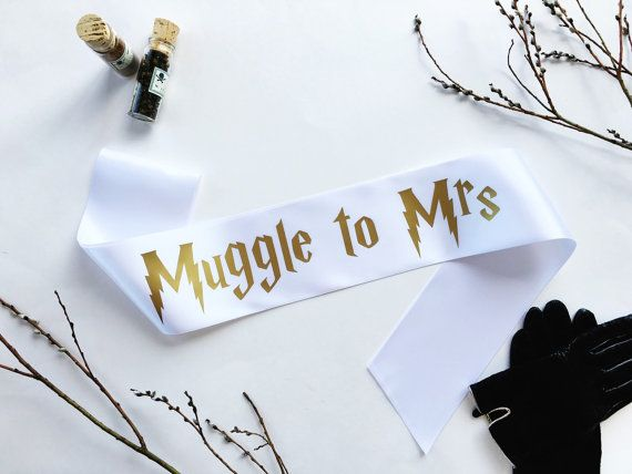 Harry Potter Sash - Harry Potter Wedding - Muggle to Mrs sash - Bachelorette…