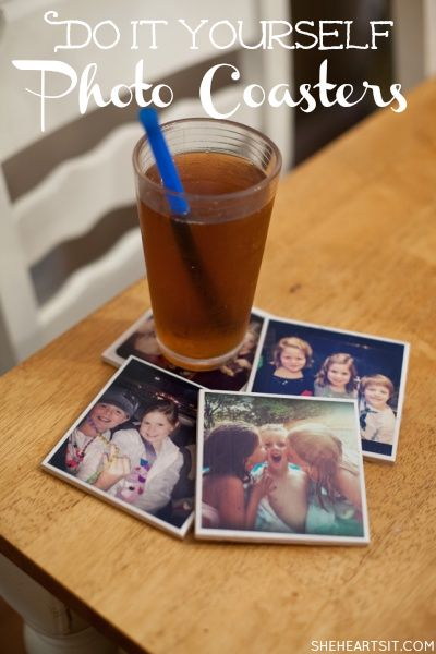 She {hearts} DIY Photo Coasters