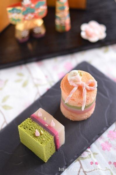 雛祭りの和菓子  Homemade Japanese Sweets of the Doll's Festival (2017/03/03) の記事画像