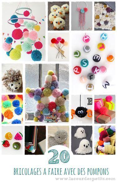 Que faire avec des pompons : 20 idees pour s inspirer. Créer de jolies choses avec les enfants pour les rendre super fiers !