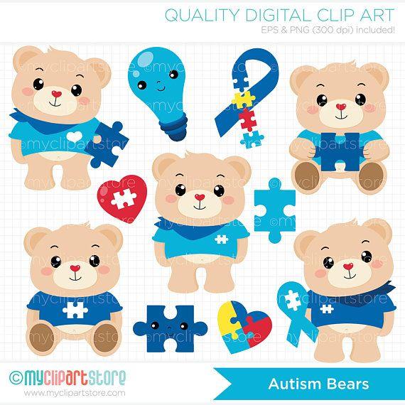 Autism Clipart Autism Bears Bear Clipart  Autistic Autism