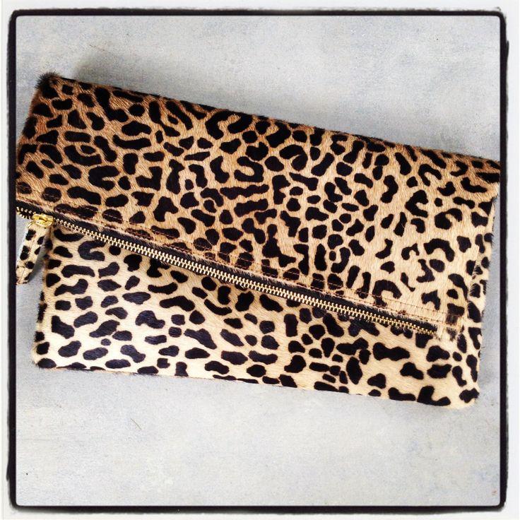 Leopard fold over clutch, Leopard Clutch, Leather leopard clutch, Lepoard clutch by MimicDesign on Etsy https://www.etsy.com/listing/245355362/leopard-fold-over-clutch-leopard-clutch