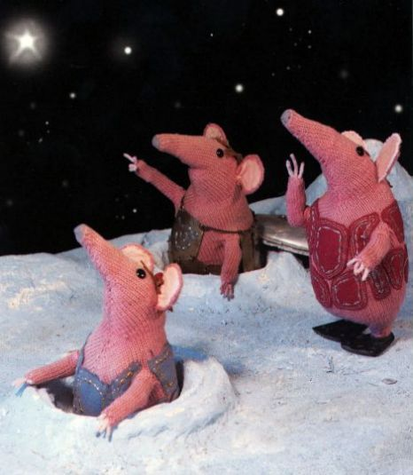 The Clangers was a BBC hit between 1969 and 1972 (Pic: Channel 5) Could be used as a creative writing or speaking prompt.