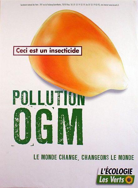 Ceci est un insecticide, affiche des Verts, années 1990 / Collections du Musée du Vivant - AgroParisTech