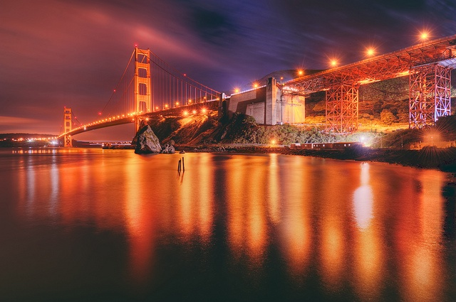 Love this picture, and bridge -The Golden Gate Bridge on May 3, 2012 by mudpig, celebrating 75 years!  ...  via Flickr: Landscapephotographi Photos, Night Photography, Landscape Photography, Goldengatebridg Sanfrancisco
