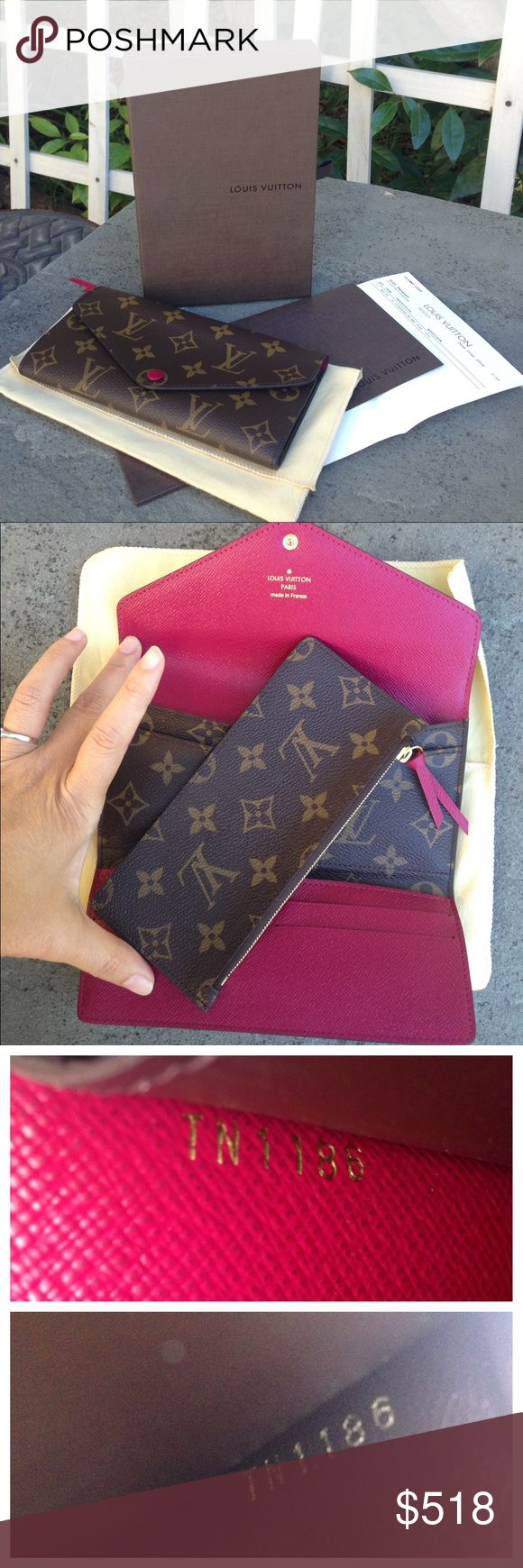 Louis Vuitton Josephine Wallet DUST BAG, BOX, REC! Paid over $500 with tax.  Brand new, never been used.  In perfect condition.  Will include box, original purchase receipt and box. Louis Vuitton Bags Wallets