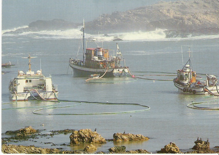 MV Angra Pequena as Seadelver 2 when she worked as a diamond recovery boat on the west coast of southern Africa, pre-2000