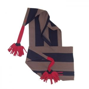 Hat Scarf in Navy and Taupe Stripe   Jessie and James   Sprogs Inc