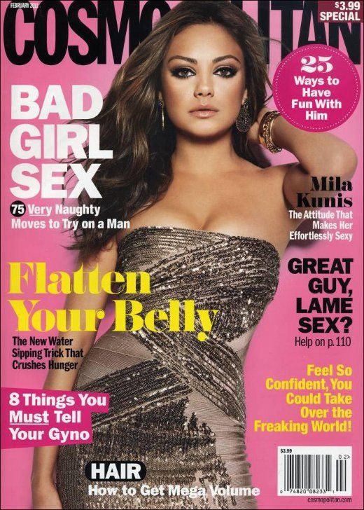 Cosmopolitan Magazine Covers | ... on the cover of the February 2011 issue of Cosmopolitan magazine