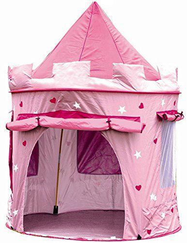 Cabane enfant maison pour fille   CHATEAU DE PRINCESSE   jardin ou intérieur   Tente de Jeu, jouet Pop Up, rose: GRANDE TENTE qui offre un…