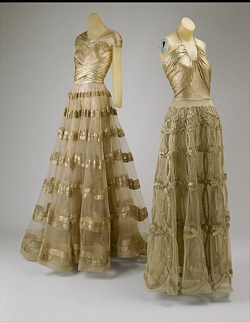 Evening Dresses    Madeleine Vionnet, 1938