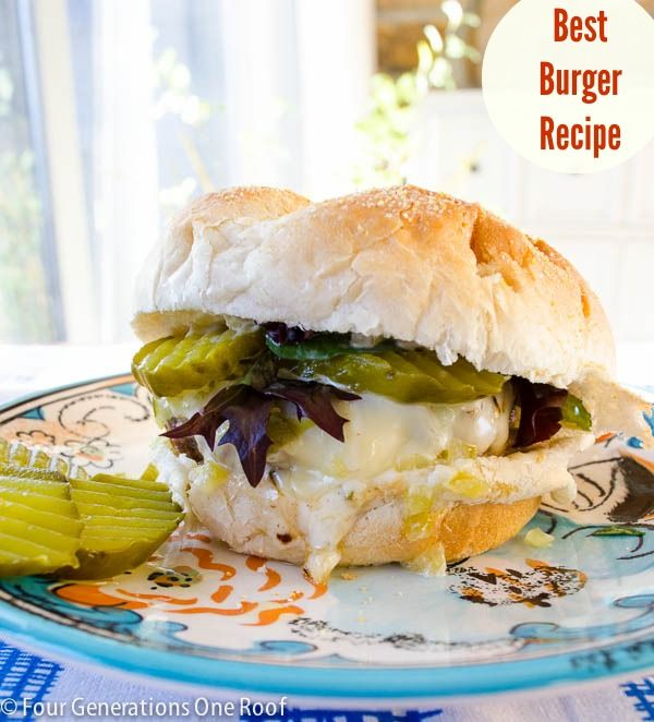 Our quick and easy stovetop gourmet hamburger recipe - Four Generations One Roof