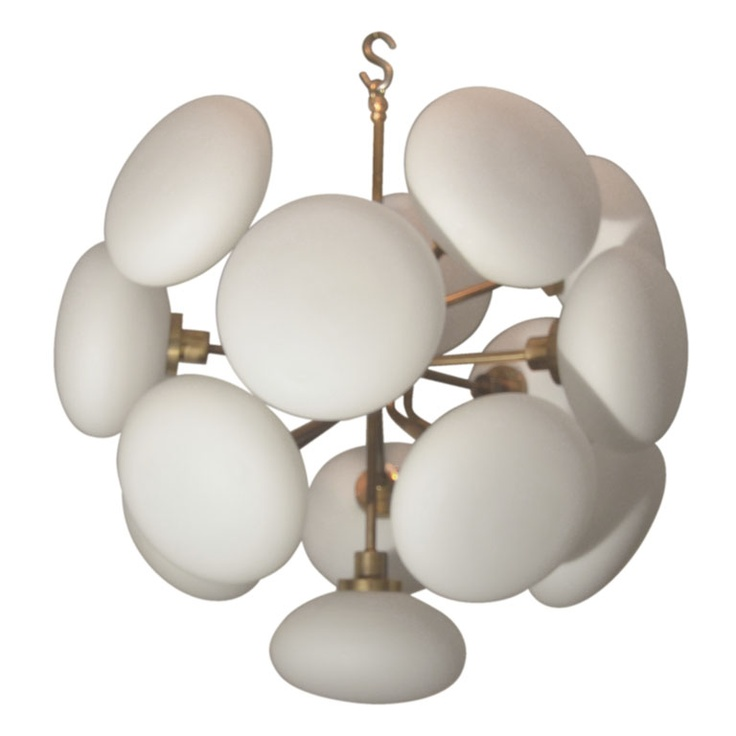 1960 S Italian Frosted Glass Fixture