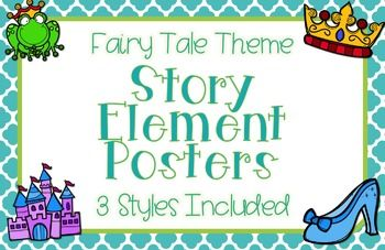 Story Element Posters: Fairy Tale Theme Classroom