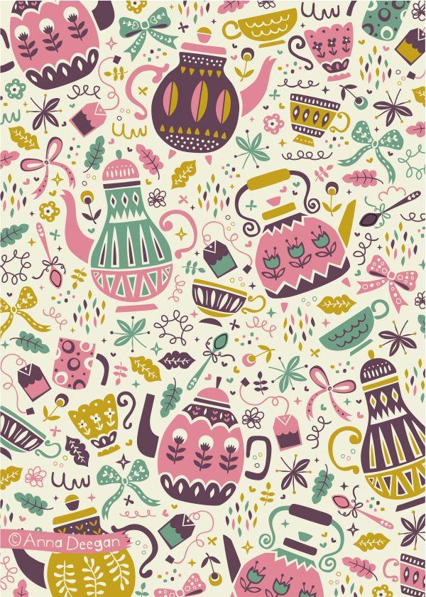 Tea Time by Anna Deegan, via Behance