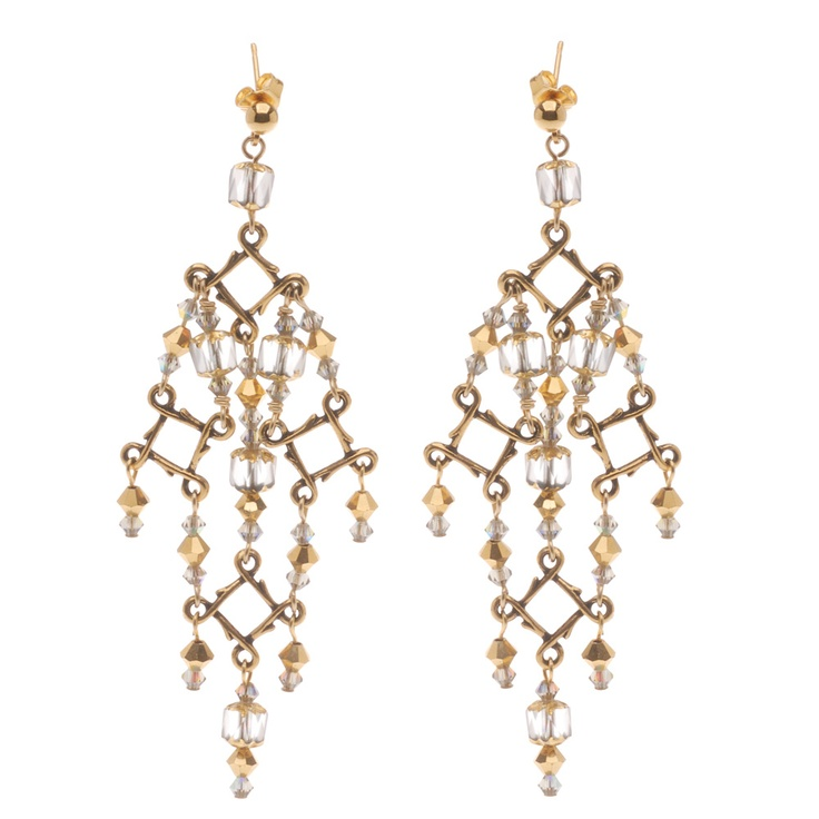 High Drama in Gold Earrings: Beads Sparkle, Sparkle Brightly, Tutorial, High Drama, Craft Ideas, Gold Earrings