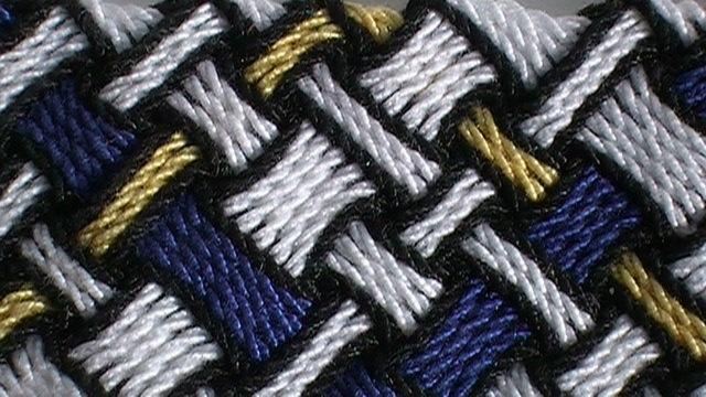 Modified basket weave pattern, bookmark