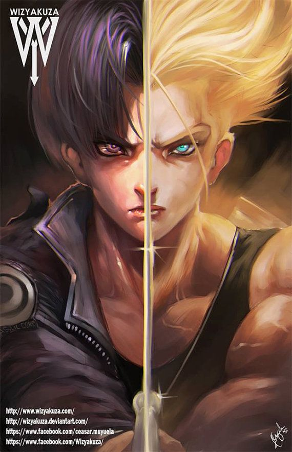 Future Trunks Super Saiyan with Sword Split  Dragon by Wizyakuza