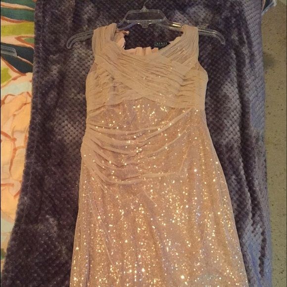 Ralph Lauren Petite Sequin Dress, 4P, Never worn I bought this dress from Nordstrom a year ago. It's Ralph Lauren and 4-Petite. It was too big for me and just wasn't for me. It's very beautiful though. Great condition. Never worn. No tags. Never worn. Accepting offers. Ralph Lauren Dresses