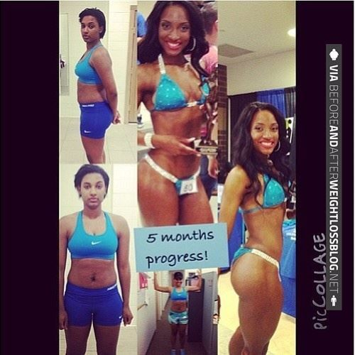 before after Black and fitness models