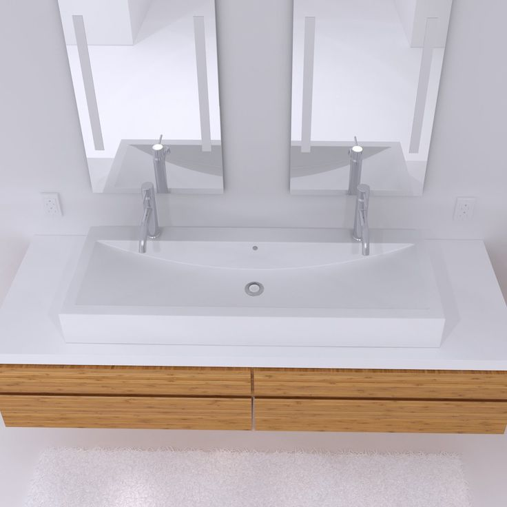 Corian Countertop Sink Options : ... Solid Surface Series Double Solid Surface Countertop Sink - ATG Stores