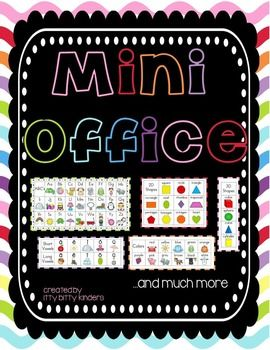 """These mini offices can be used as 1) a desktop reference for students, 2) to promote independent work, and 3) can also be used as """"privacy folders"""". These brightly colored offices provide the students with all the reference information they need """"right at their fingertips""""."""