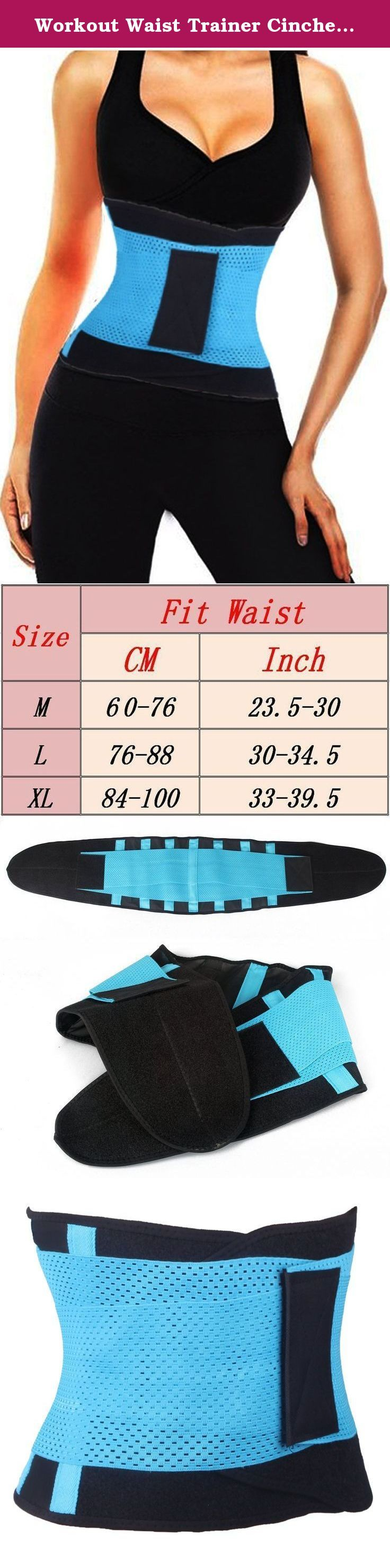 Workout Waist Trainer Cincher Fitness Body Shaper Back Brace Lumbar Support Belt. USE our own size chart, does not support Amazon size chart,Find your perfect size. The Belt is one of the newest waist trainers and body shapers in the market that will help women obtain a slimmer waist and that craved hourglass shape in just two seconds. It works in two simple steps: Step one compresses and supports, Steps two slims your waist instantly. The Belts success is due to its exclusive technology...