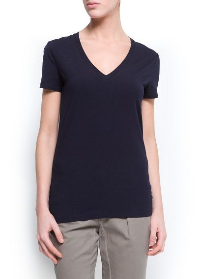 Back to basic with @MANGO (MANGO outlet) maglietta alexis2 navy