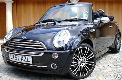 mini cooper convertible decked