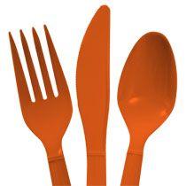 Bulk Orange Plastic Utensils, 48-ct. Packs at DollarTree.com  Definitely has merit ONE DOLLAR!