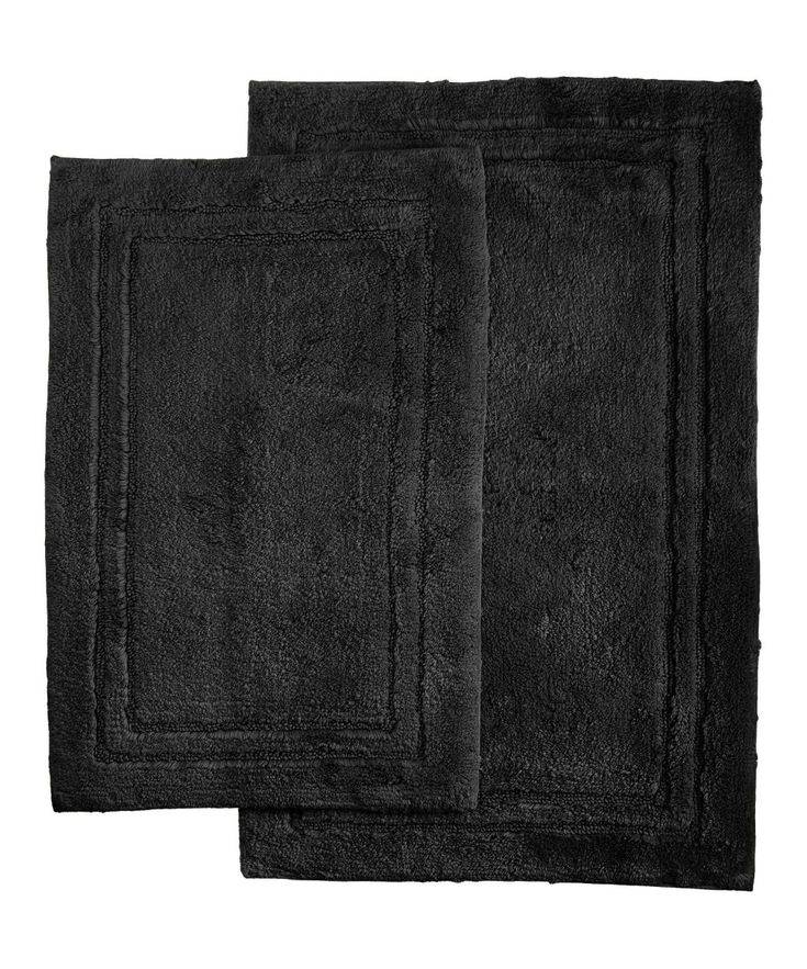 Black Cotton Bath Mat Set