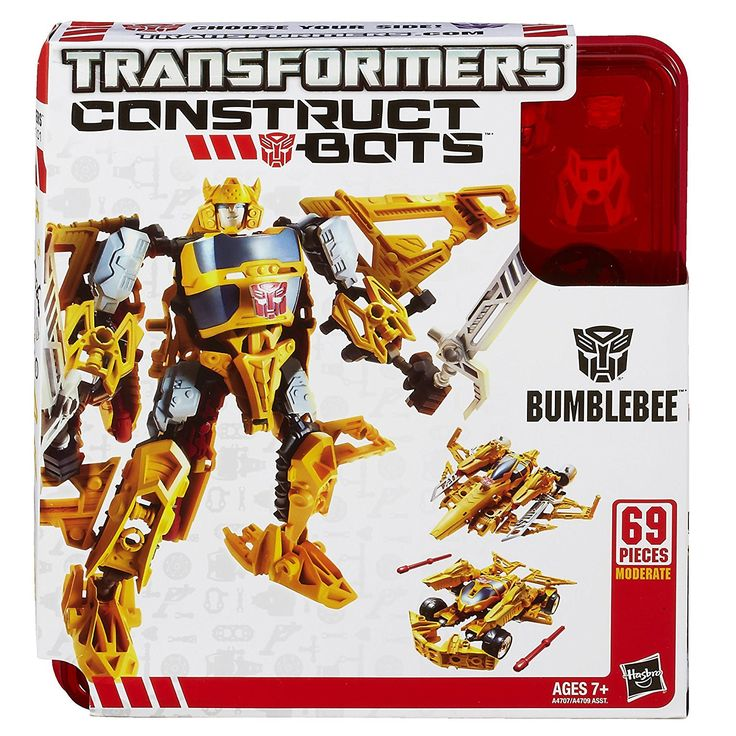 Hasbro TRANSFORMERS Construct Bots BUMBLEBEE 69 Piece Buildable Transforming Robot Action Figure