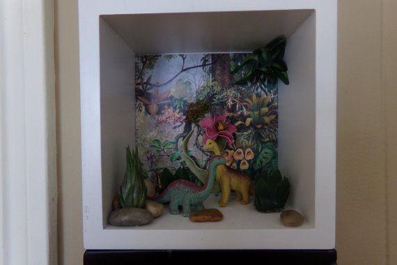 caja de sombra diorama airplant pantalla por PearlinaStream en Etsy