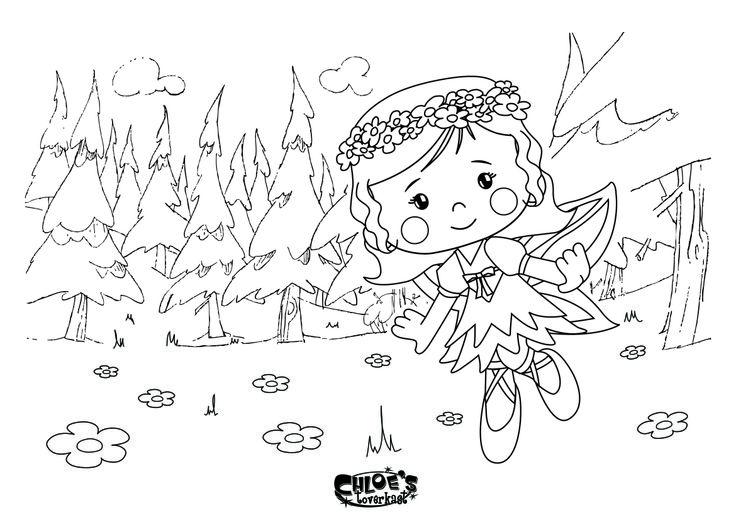 Chloe als elfje!  #chloestoverkast #kleurplaat #printable