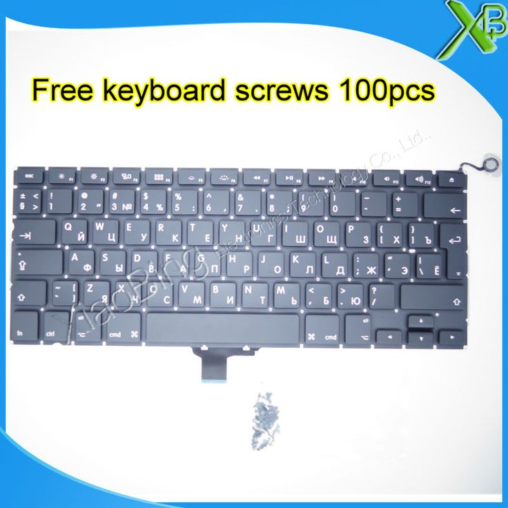 "Brand New For MacBook Pro 13.3"" A1278 RU Russian keyboard+100pcs keyboard screws 2008-2012 Years"