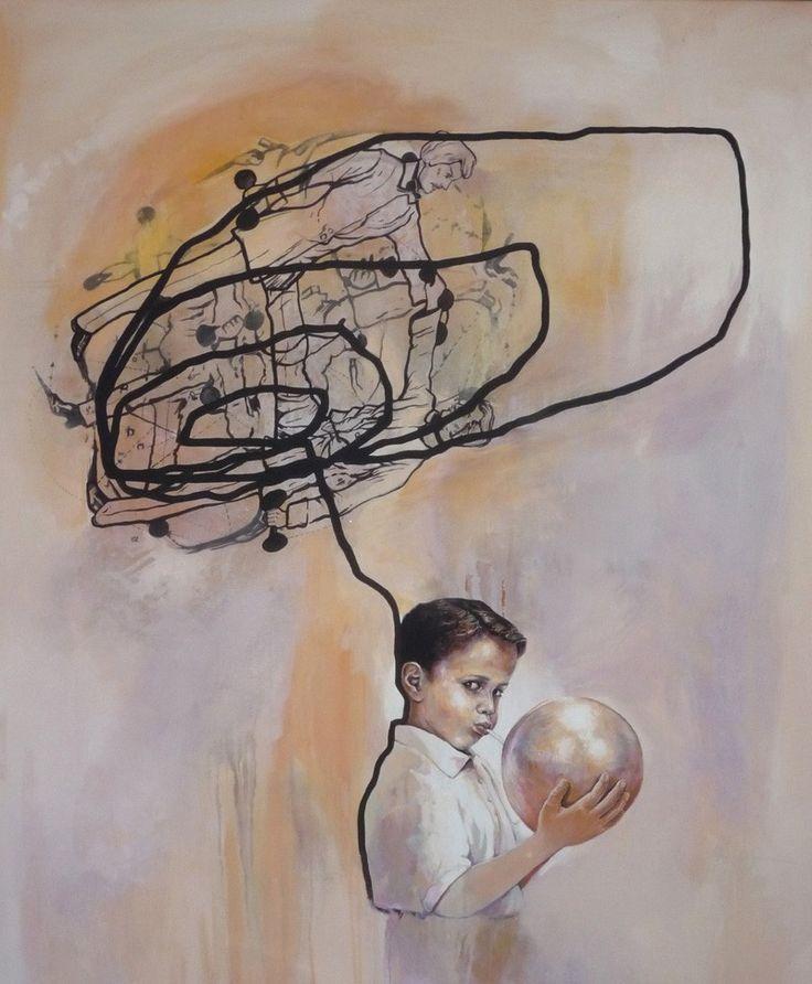 Junge mit Blase (Boy with Bubble) by Veronika Olma